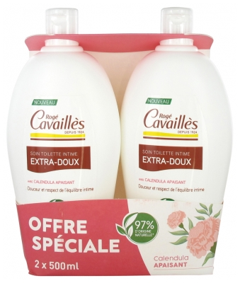 Rogé Cavaillès Extra-Gentle Intimate Cleanser Set of 2 x 500 ml