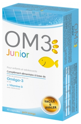 OM3 Junior For Children and Teenagers 45 Capsules