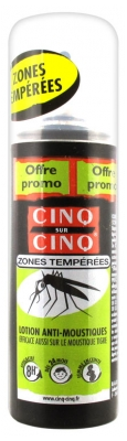 Cinq sur Cinq Anti-Mosquitoes Lotion Tempered Zones 100ml