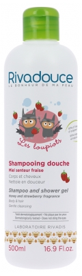 Rivadouce Les Loupiots Shampoo and Shower Gel Honey and Strawberry Fragrance 500ml