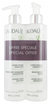 Caudalie Lotion Tonique Hydratante Lot de 2 x 200 ml