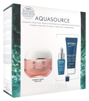 Biotherm Aquasource Rich Cream Hydration and Glow Ritual Set 2020