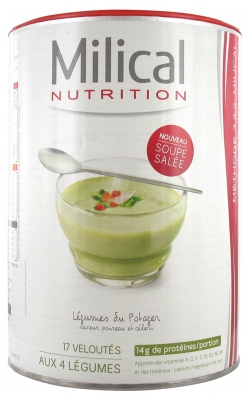 Milical Hyper-Protein Cream of 4 Vegetable Soup 544g