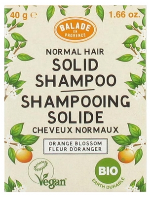 Balade en Provence Shampoing Solide Cheveux Normaux Fleur d'Oranger Bio 40 g