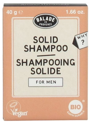 Balade en Provence Shampoing Solide Pour Hommes Bio 40 g