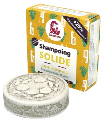 Lamazuna Shampooing Solide Cheveux Normaux Pin Sylvestre 55 g