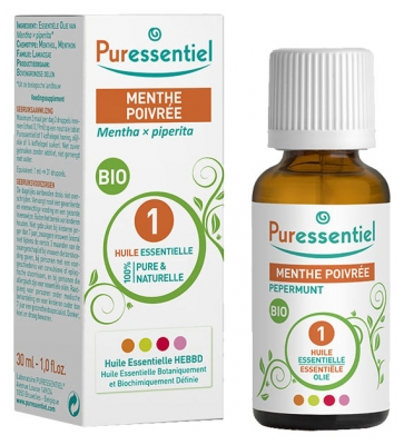 Puressentiel Essential Oil Peppermint Bio 30ml
