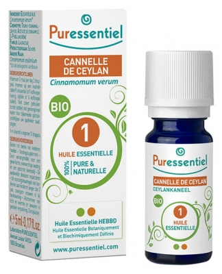Puressentiel Essential Oil Cinnamon Ceylan Bio 5ml