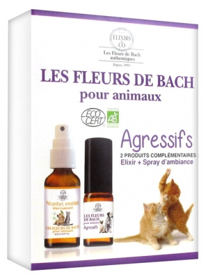 Elixirs & Co Bach Flowers Kit for Agressive Animals