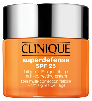 Clinique Superdefense SPF25 Soin Multi-Correction Fatigue + 1ers Signes de l'Age Peau Très Sèche à Mixte 50 ml