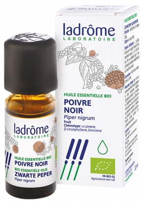 Ladrôme Organic Essential Oil Black Pepper (Piper Nigrum) 10ml
