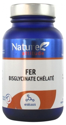 Nature Attitude Iron Bisglycinate Chelate 60 Capsules