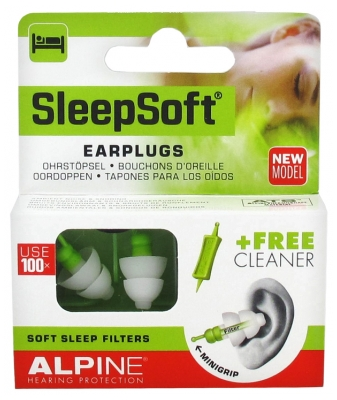 Alpine Hearing Protection SleepSoft Earplugs + 1 Cleaner