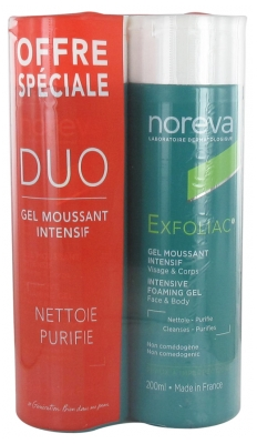 Noreva Exfoliac Intensive Foaming Gel 2 x 200ml