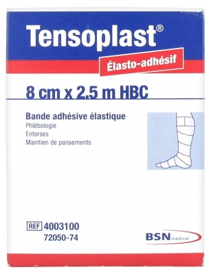 BSN medical Tensoplast Bande Adhésive Elastique 8 cm x 2.5 m HBC Chair