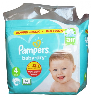 Pampers Baby-Dry 68 Diapers Size 4 (9-14 kg)