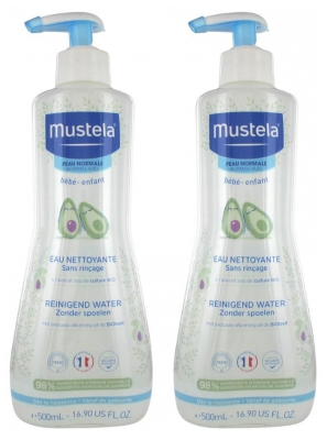 Mustela Avocado No-Rinse Cleansing Water 2 x 500 ml