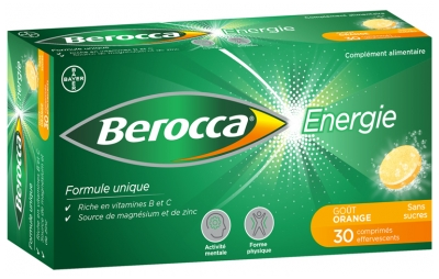 Berocca Energy 30 Effervescent Sugar-free Tablets