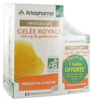 Arkopharma Arkocaps Royal Jelly Organic 150 Capsules + 45 Capsules Offered