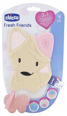 Chicco Fresh Friends Doudou de Dentition 3en1 4 Mois et +
