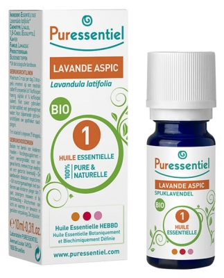 Puressentiel Essential Oil Lavender Aspic Bio 10ml