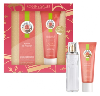 Roger & Gallet Set 2020 Fragrant Well-Being Water Fig Tree Flower 30ml + Relaxing Shower Gel 50ml Offered