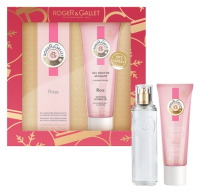 Roger & Gallet Rose 2020 Set Well-Being Fragrant Water 30ml + Soothing Shower Gel 50ml Free