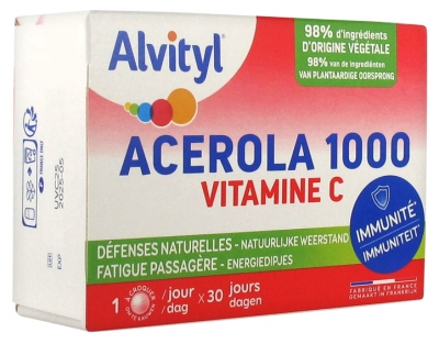Alvityl Acerola 1000 Vitamin C 30 Tablets to Crunch