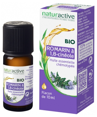 Naturactive Organic Essential Oil Rosemary at 1,8-Cineole (Rosmarinus Officinalis L. ct 1,8-Cineole) 10ml