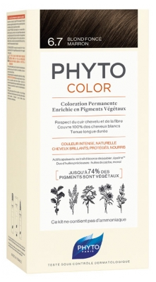 Phyto PhytoColor Permanent Color - Hair Colour: 6.7 Dark Chestnut Blonde