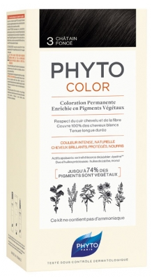Phyto PhytoColor Permanent Color - Hair Colour: 3 Dark Brown