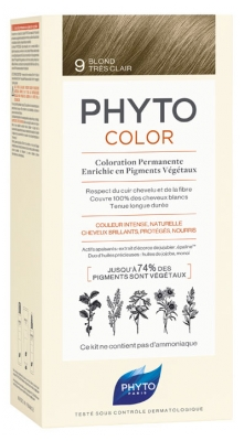 Phyto PhytoColor Permanent Color - Hair Colour: 9 Very Light Blond