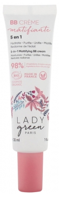 Lady Green Crema BB Matificante 5 en 1 Bio 30 ml