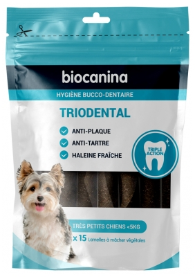 Biocanina Triodental Very Small Dogs 15 Vegetable Slats
