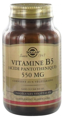 Solgar Vitamin B5 (Pantothenic Acid) 550mg 50 Vegetable Capsules
