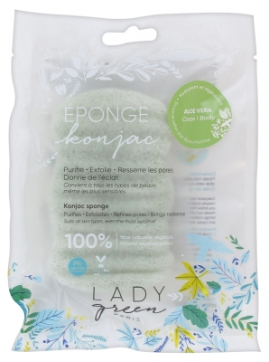 Lady Green Konjac Sponge Body Aloe Vera
