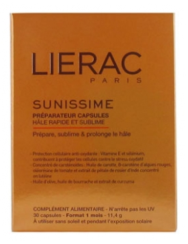Lierac Sunissime Preparation Capsules Quick and Sublime Tan 30 Capsules