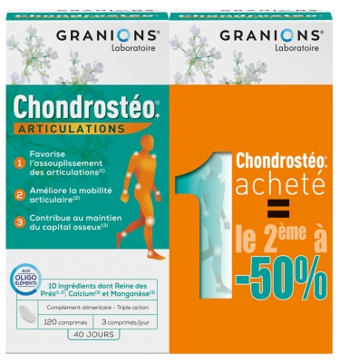 Granions Chondrostéo+ Joints 2 x 120 Tablets