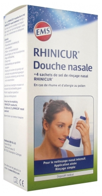 Rhinicur Nasal Shower + Nasal Rinse Salt 4 sachets