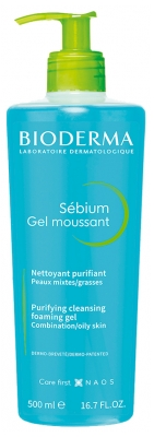 Bioderma Sébium Purifying Cleansing Foaming Gel 500ml
