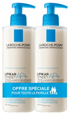 La Roche-Posay Lipikar Syndet AP+ Lot de 2 x 400 ml