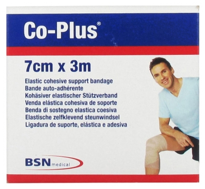 BSN medical Co-Plus Elastic Cohesive Support Bandage 7cm x 3m - Colour: Flesh