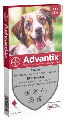 Advantix Medium Dogs 10-25kg 6 x 2,5ml