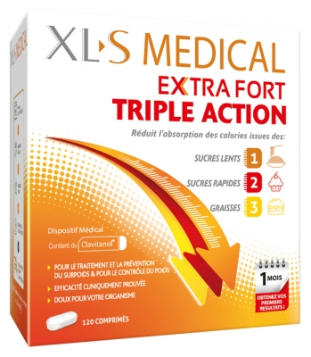 XLS Medical Extra Fort Triple Action 120 Comprimés