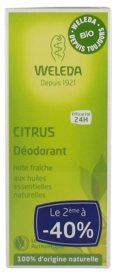 Weleda Déodorant au Citrus Lot de 2 x 100 ml
