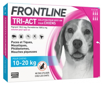 Frontline TRI-ACT Dogs 10-20kg 6 Pipettes