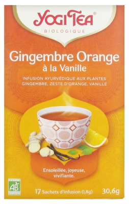 Yogi Tea Bio-Ingwer Orange mit Vanille 17 Beutel