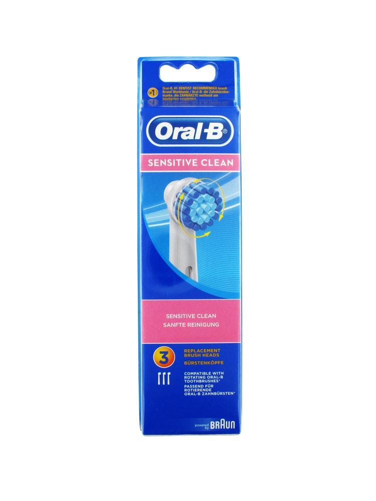 oral b sensitive clean 3 brushes. Black Bedroom Furniture Sets. Home Design Ideas