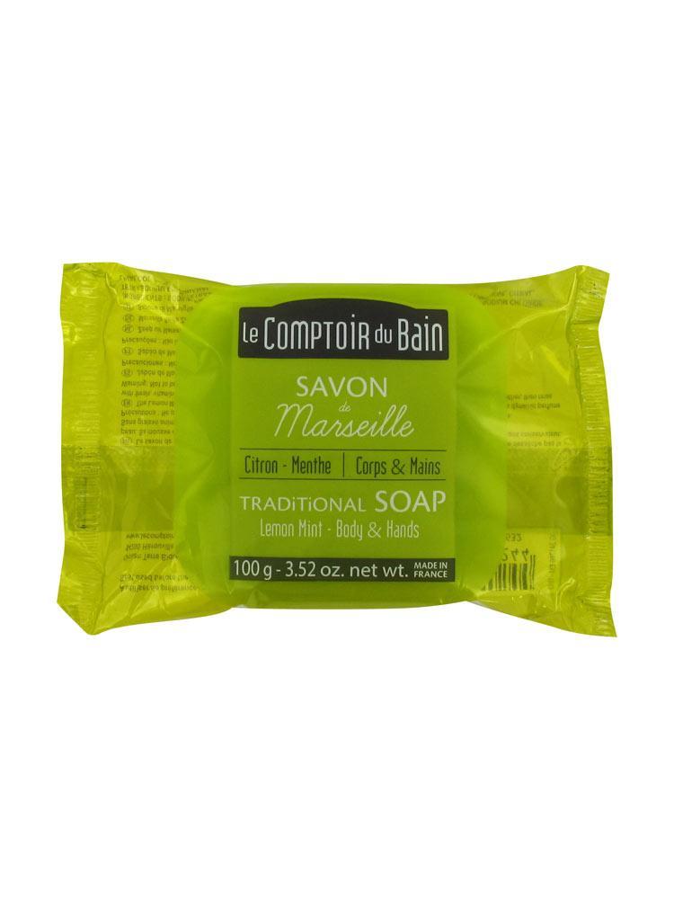 Le comptoir du bain savon de marseille citron menthe 100 g for Le comptoir du meuble bruxelles