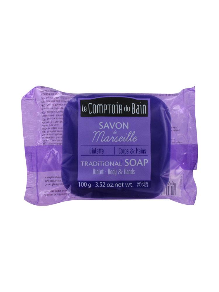 Le comptoir du bain savon de marseille violette 100 g for Le comptoir du meuble bruxelles
